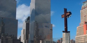 The World Trade Center cross, also known as the Ground Zero cross, is a group of steel beams found amid the debris of the World Trade Center following the September 11, 2001 terrorist attacks. Photo by Melissa Day, Thinkstock.