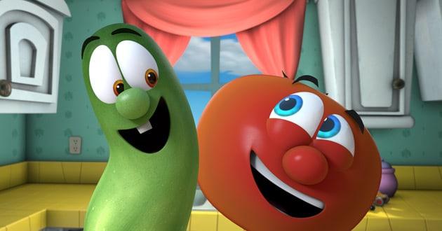 Netflix gives VeggieTales' Bob, Larry a new world ... Veggie Tales Larry The Cucumber And Bob The Tomato