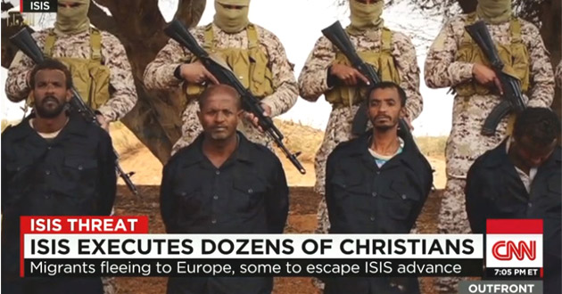 30 Ethiopian Christians being executed