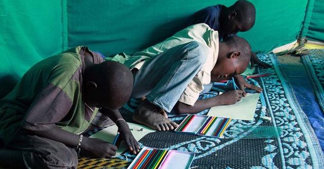 Displaced children in Nigeria