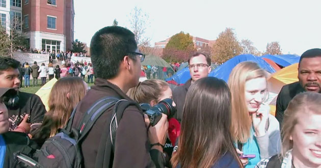 Clash between media and students over free speech