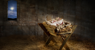 Jesus born in a manger