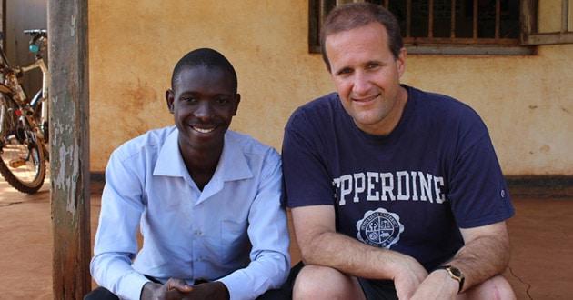 Jim Gash and Tumusiime Henry in Uganda