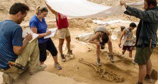 excavation of the Philistine cemetery