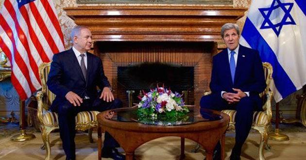 John Kerry and Benjamin Netanyahu