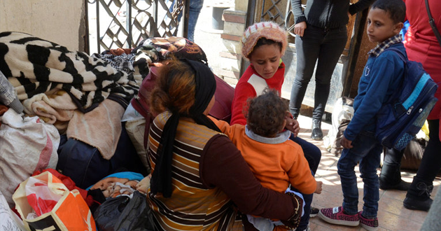 Christians in Egypt flee