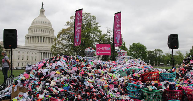 Baby socks delivered to U.S. Capitol