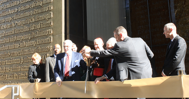 Ribbon-cutting for the Museum of the Bible