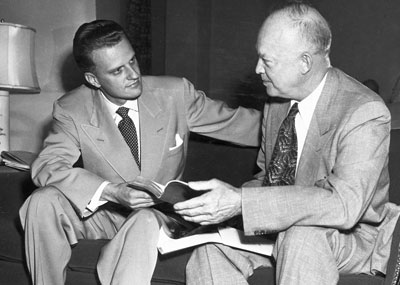 Billy Graham and Dwight D. Eisenhower