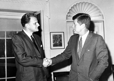 Billy Graham and John F. Kennedy