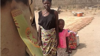 Nigerian Christian woman returns home