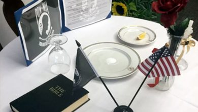 Bible in a POW/MIA display at U.S. Naval Hospital Okinawa