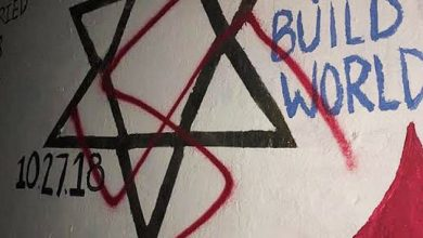 Swastika on Pittsburgh synagogue memorial at Duke University