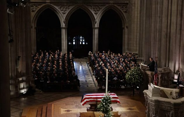 President George H.W. Bush, at Washington National Cathedral