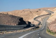 The border fence with Egypt in Eilat in southern Israel.