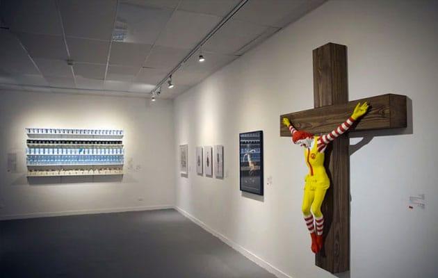 """""""McJesus"""" is seen on display"""