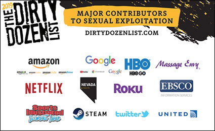 The Dirty Dozen list of the top purveyors of sexual exploitation