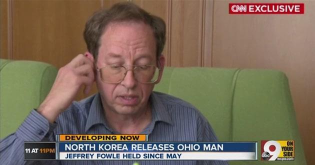 Jeffery Fowle, released by North Korea. Screenshot from CNN.
