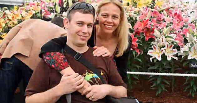 Martin Pistorius and his wife. (Youtube)