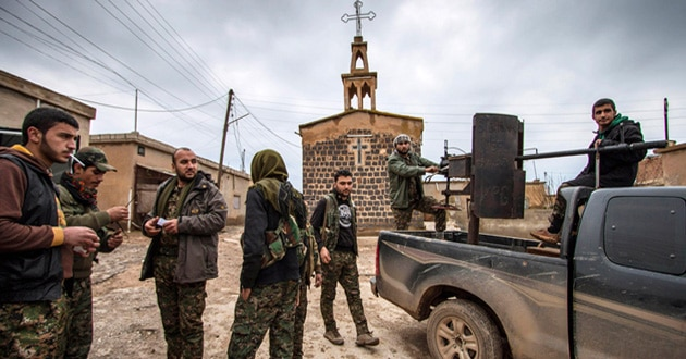 Photo of Islamic State group now holding 220 Christians in Syria