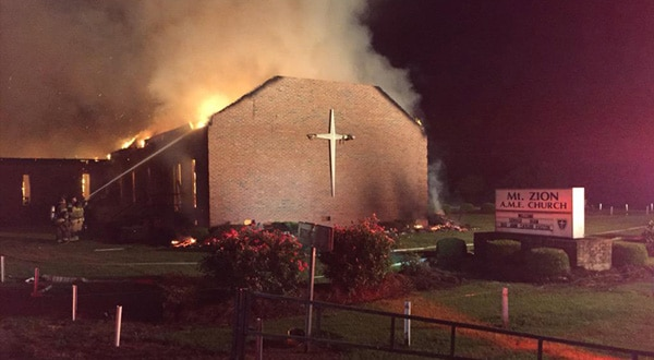 Photo of Fire at black church in S.C. was not arson, feds say