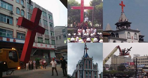 Photo of China vs. the cross