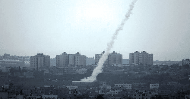 Rockets hit Israel from the Gaza strip