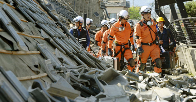 earthquake hits southern Japan