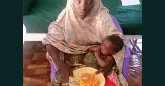 Photo of One Chibok girl found alive in Nigerian forest