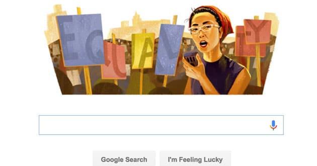 Photo of Google and Yuri Kochiyama