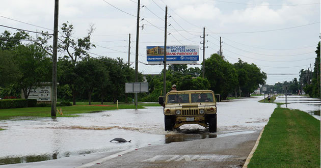 Flooding in Fort Bend County Texas