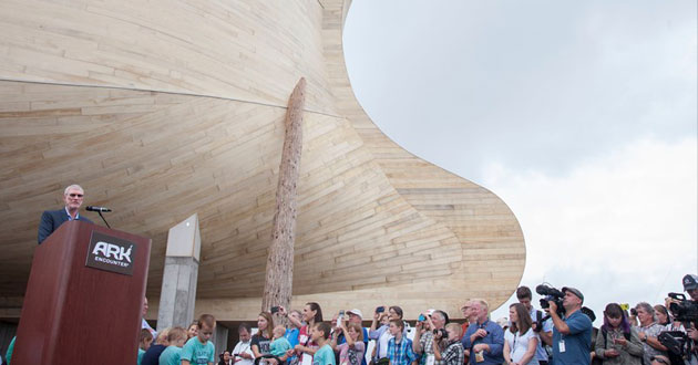 Photo of A flood of supporters attend the opening of Noah's Ark