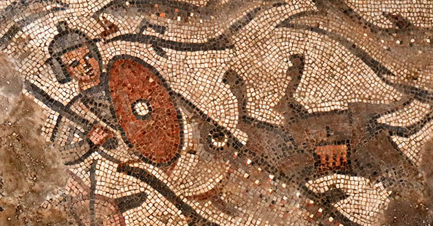 Photo of Noah's Ark mosaic uncovered in ancient Galilee synagogue