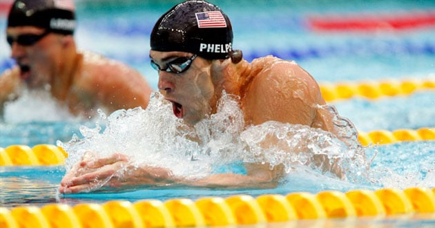 Michael Phelps competes in the 2008 Olympic Games