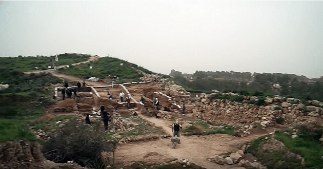 City gate destroyed by Hezekiah