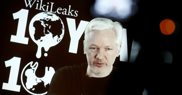 Photo of WikiLeaks' Assange signals release of documents before U.S. election