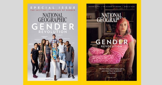Photo of Transgender child on National Geographic cover