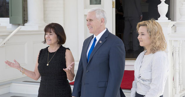 Photo of VP Pence's marital integrity draws criticism