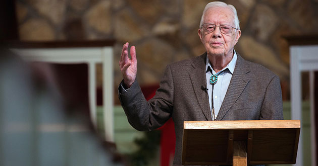 Photo of A Bible study led by 92-year-old Jimmy Carter is a sight to behold
