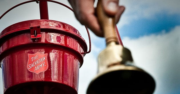 Photo of The man in the red apron: How a Salvation Army bell ringer brings heart to the job
