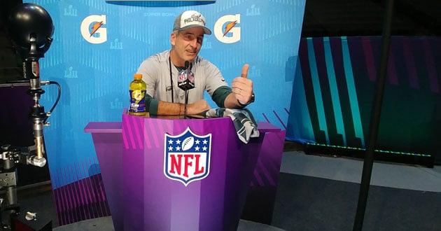 Photo of Eagles coach embraces unique resume