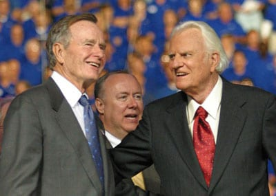 President George H.W. Bush and Billy Graham