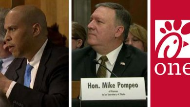 Photo of Booker and the New Yorker vs. Pompeo and Chick-Fil-A