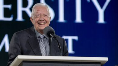 Photo of Jimmy Carter urges unity at Liberty graduation