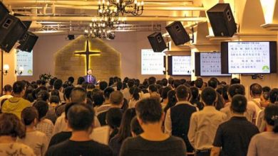 Pastor Wang Yi preaches at Early Rain Covenant Church