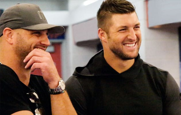 Robby and Tim Tebow.