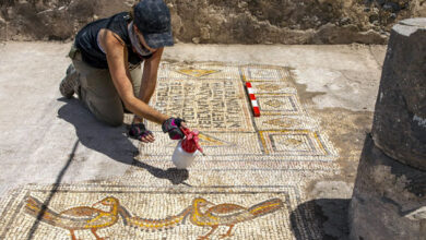 Photo of Archaeologists uncover mosaic floor from 5th century church near Sea of Galilee